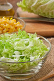 Salad from Chinese cabbage Stock Photo