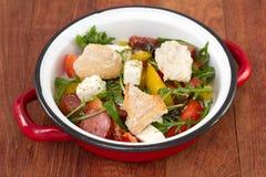Salad with chorizo Royalty Free Stock Photography