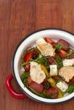 Salad with chorizo Stock Photo