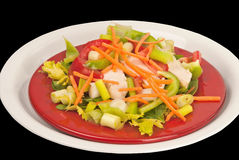 Salad with clipping path Stock Photo