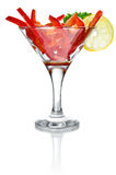 Salad cocktail in goblet Royalty Free Stock Images