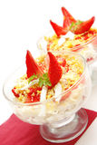 Salad-cocktail with a strawberry Stock Image