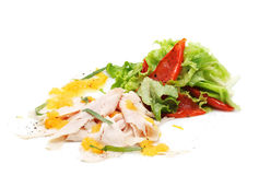 Salad with Cold Chicken Breast Royalty Free Stock Photography
