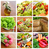 Salad - collage Royalty Free Stock Images