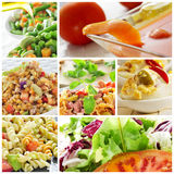 Salad collage Royalty Free Stock Images
