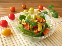 Salad with colored tomatoes Royalty Free Stock Photo