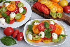 Tomato salad stock images
