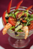 Salad with cooked shrimp Royalty Free Stock Photo