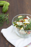Salad of cooked squid, fresh vegetables and herbs Stock Image