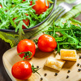 Salad cooking Royalty Free Stock Image