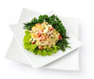 A salad of corn and Chinese cabbage Royalty Free Stock Photos