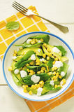 Salad with corn, spinach and avocado Royalty Free Stock Photos