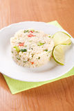 Salad with couscous, parsley, tomatoes and cucumber Royalty Free Stock Image