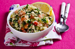 Salad with couscous and vegetables Royalty Free Stock Photos