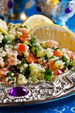 Salad with couscous and vegetables Royalty Free Stock Photo