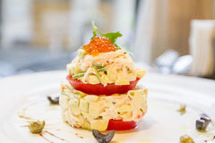 Salad with crab and avocado Royalty Free Stock Image