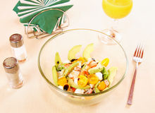 Salad with crab and fresh vegetables Royalty Free Stock Image
