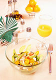 Salad with crab meat and fresh vegetables Stock Photography