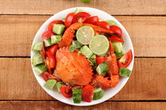 Salad with crab meat Royalty Free Stock Photos