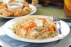 Salad and crab rangoon Royalty Free Stock Photos