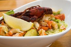 Salad with crab Royalty Free Stock Images