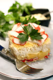 Salad with crab sticks and pineapple Royalty Free Stock Images