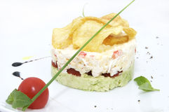 Salad with crab Stock Image
