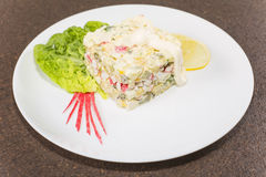 Salad with crabmeat Stock Photography
