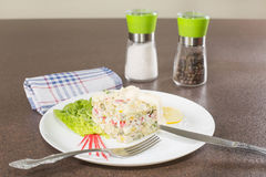 Salad with crabmeat Royalty Free Stock Photos