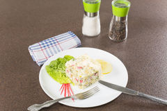 Salad with crabmeat Royalty Free Stock Images