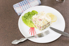 Salad with crabmeat Stock Photos