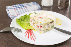 Salad with crabmeat Stock Images