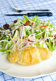 Salad and croissant Royalty Free Stock Image