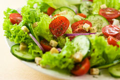 Salad with croutons Royalty Free Stock Images