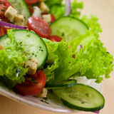 Salad with croutons Stock Images