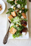 Salad with croutons and parmesan Royalty Free Stock Photo