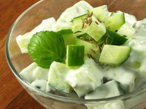 Salad with cucumber Stock Images