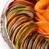 Salad  cucumber Beetroot Carrot sliced Royalty Free Stock Photos