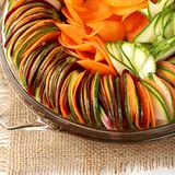 Salad  cucumber Beetroot Carrot sliced Royalty Free Stock Photography