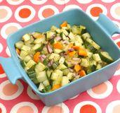 Salad of cucumber and carrots Royalty Free Stock Photography