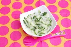 Salad of cucumber Stock Photo