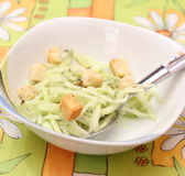 Salad of cucumber royalty free stock photos