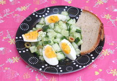 Salad of cucumber Stock Photo