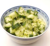 Salad of cucumber Royalty Free Stock Images