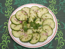 Salad of cucumber Royalty Free Stock Image