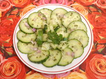 Salad of cucumber Royalty Free Stock Photography