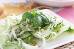 Salad of cucumber Stock Photography