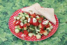 Salad of cucumber Royalty Free Stock Image
