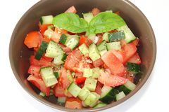 Salad of cucumber and tomatoes Royalty Free Stock Image