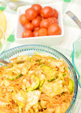 Salad with cucumbers and cabbage Stock Photos